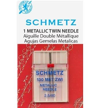 Schmetz Metallic Twin Needles (Choose Size)