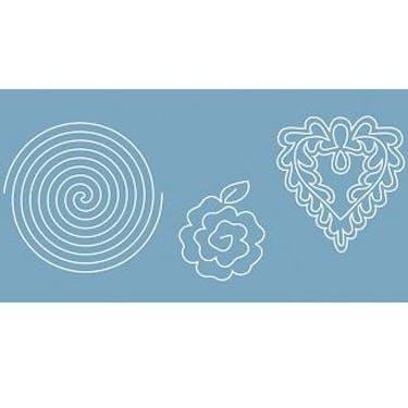 Baby Lock Quilt Pattern Board - Spiral/Rose/Heart