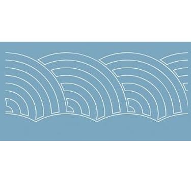 Baby Lock Quilt Pattern Board - Modified Baptist Fan