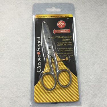 Mundial 4 1/2 inch Button Hole Scissors
