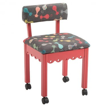 Arrow Cat's Meow Sewing Chair with Jewel Red Finish