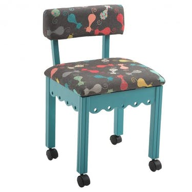 Arrow Cat's Meow Sewing Chair with Jewel Blue Finish