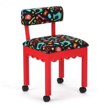 Arrow Black Sewing Notions Sewing Chair with Red Finish