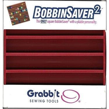 Blue Feather Square Bobbin Saver