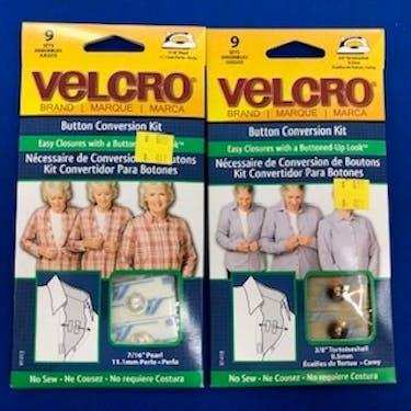 No-Sew Button - Velcro Conversion Kit