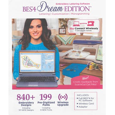 Brother Bes4 Dream Edition Embroidery Lettering Software Pocono