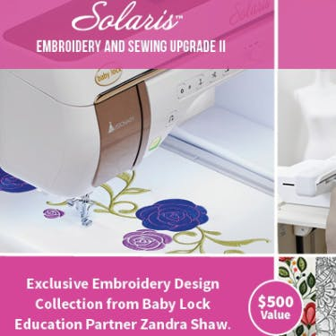 Baby Lock Solaris 1 Embroidery and Sewing Combo Upgrade 2