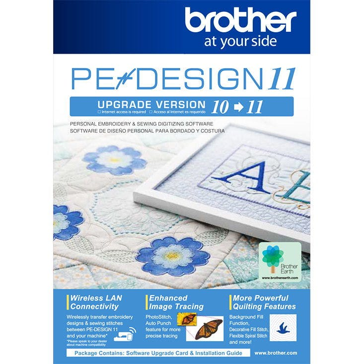 Brother PE Design 11 Upgrade - 1000's of Parts - Pocono Sew