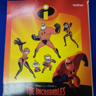 Brother Disney's The Incredibles Embroidery Designs