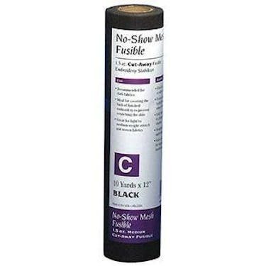 Baby Lock No-Show Mesh Fusible Stabilizer - 1.5 oz Medium Black