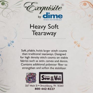 Exquisite Heavy Weight Soft Tearaway Stabilizer 12