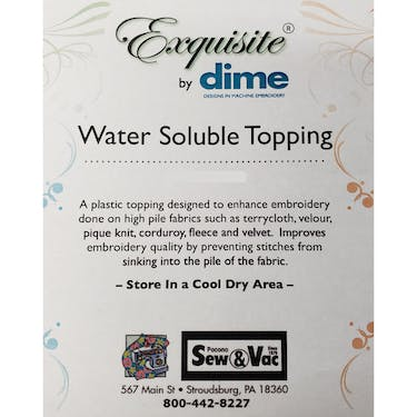 Exquisite Water Soluble Topping 12