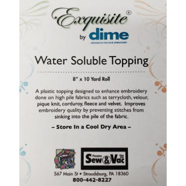 Exquisite Water Soluble Topping 8