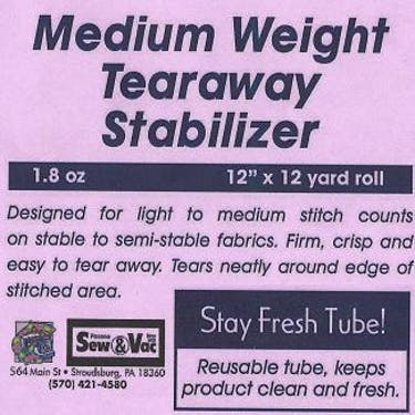 Exquisite Medium Weight Tearaway Stabilizer 12