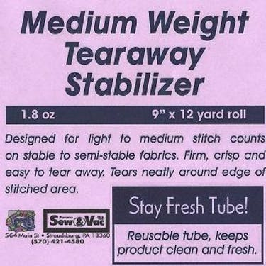 Exquisite Medium Weight Tearaway Stabilizer 9