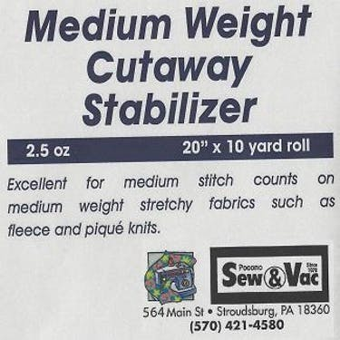 Exquisite Medium Weight Cutaway Stabilizer 20