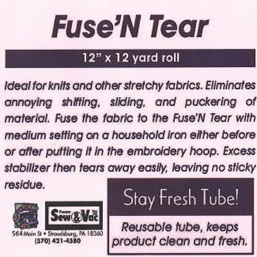 Exquisite Fuse N Tear Stabilizer 12