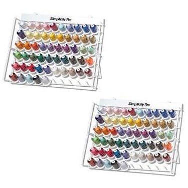 Brother 110-Piece Embroidery Thread Set with 2 Storage Racks