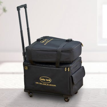 Baby Lock Large Machine Trolley Black Machine Luggage
